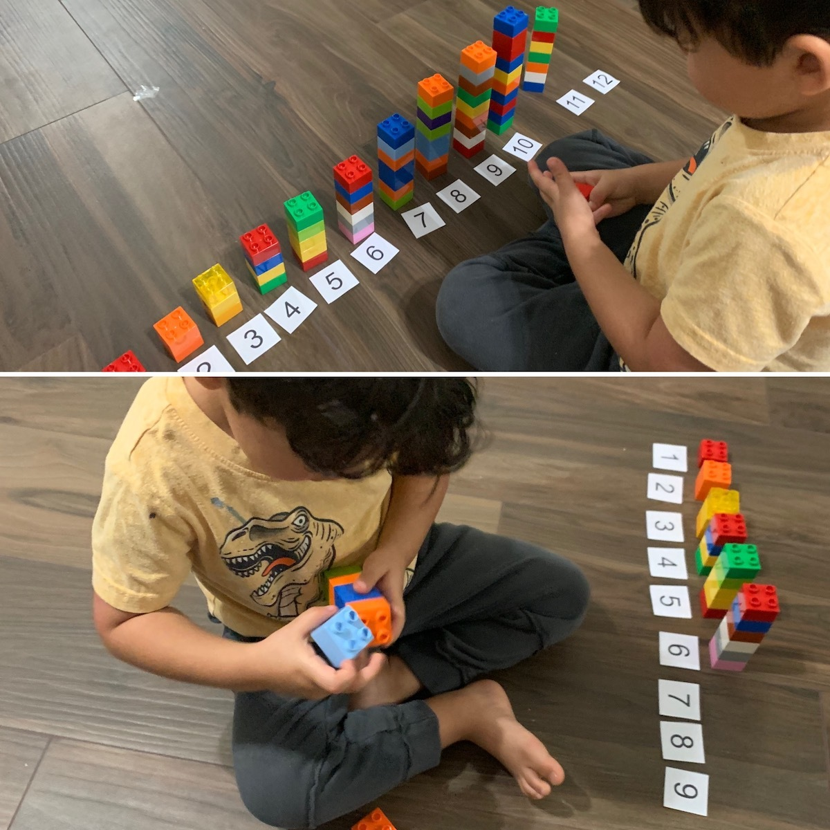 Matching duplos with quantity